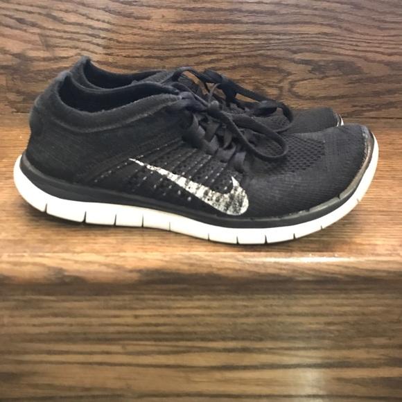 Nike Shoes Womens Free Flyknit 40 Black Running Poshmark